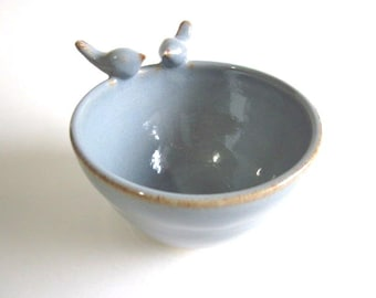Ring bowl, wedding  ring dish, Ceramic jewelry dish, Kitchen storage, In Stock
