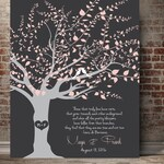 50th anniversary gift for parents family tree art 50year Anniversary Golden anniversary Personalized Wedding Gifts Quote art heart in tree