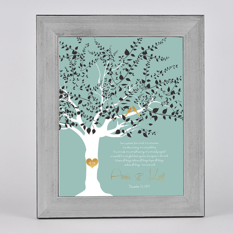 Personalized 14th anniversary gifts for parents 14 years ...