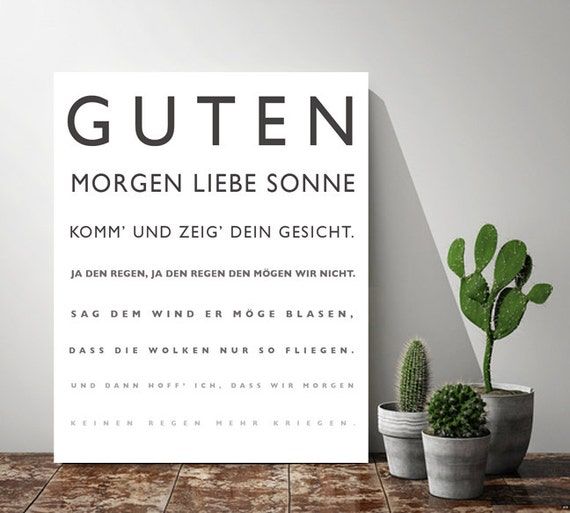 Items Similar To Baby Gift German Nursery Poem Kinderlied