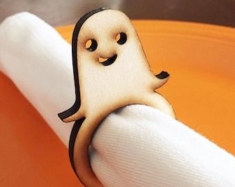 Ghost Wood Napkin Rings, Halloween Dinner, Halloween Wedding, Dinner party