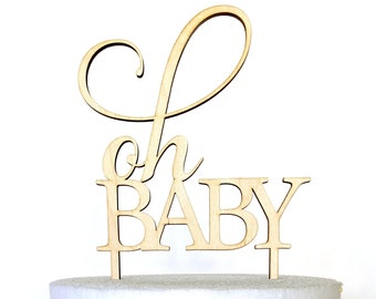 Oh Baby Cake Topper, Baby shower cake topper, Oh Baby acrylic cake topper