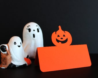 Pumpkin Place Cards, Halloween place cards, Halloween wedding, Halloween dinner party, Wedding place cards, wedding escort card