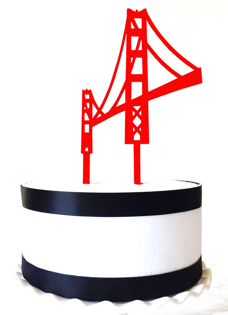 Golden Gate Cylinder Ciasto San Francisco Most Ciasto Etsy