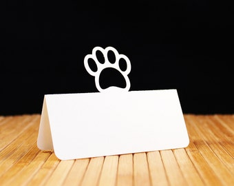 Paw Print Place Cards Set of 25
