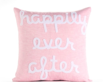 """Happily Ever After 16""""x16"""" Linen Pillow"""