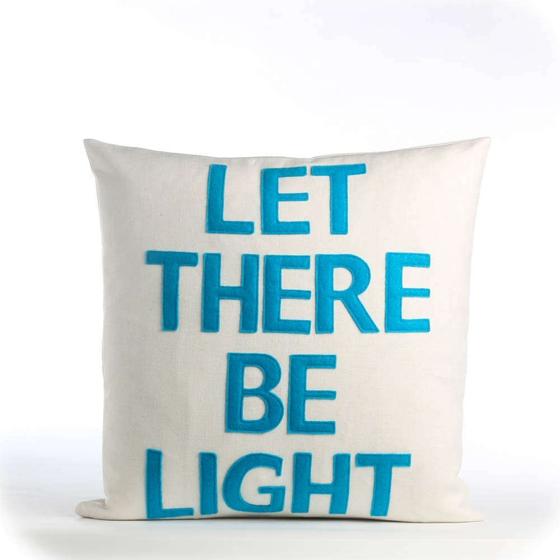 Let there be light 16X16 inch throw pillow decorative pillow throw pillow