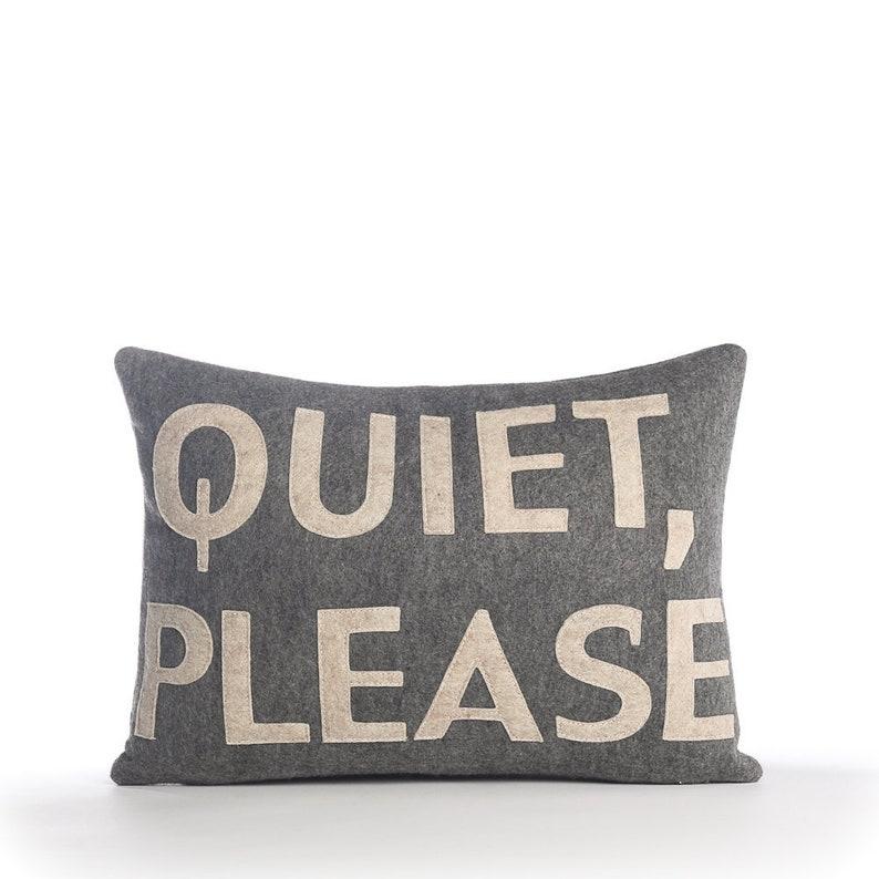 10X14 inch Quiet Please pillow Decorative Pillow Throw Pillow