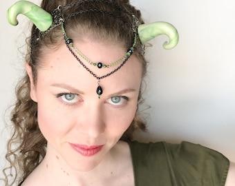 Glow-in-the-dark Dragon Horns
