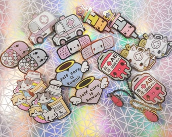 ba618bc6fa43 Enamel pins - kawaii medical pins.