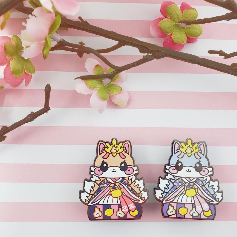 Lady Kitsune: Girl's Day Animal Enamel Pins image 0