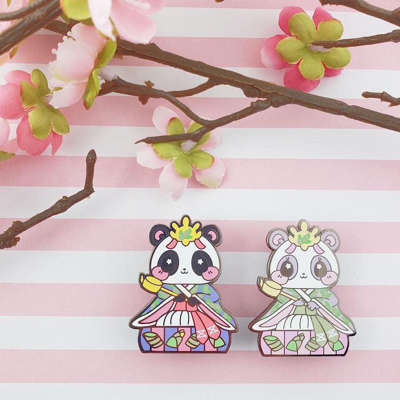 Lady Panda: Girl's Day Animal Enamel Pins image 0