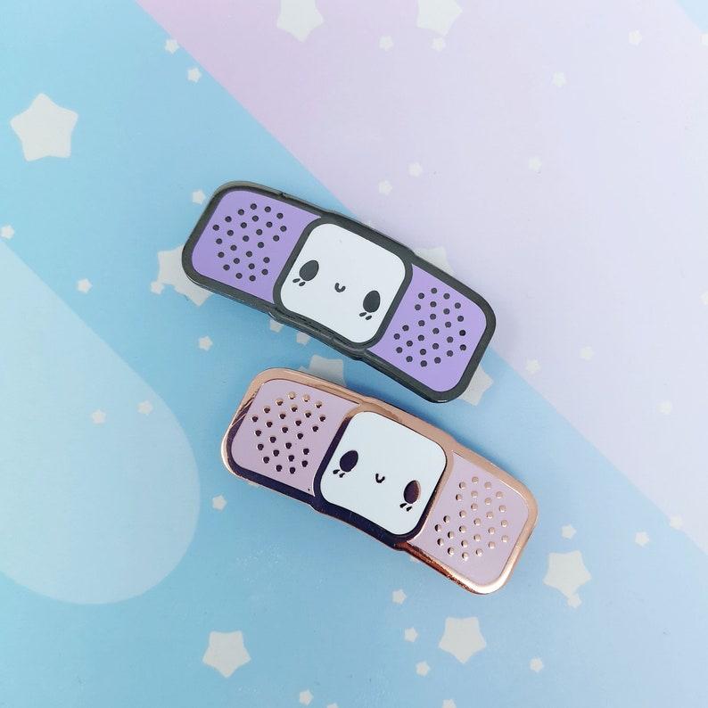 Bandaid Buddy  Hard Enamel Collar Pin  Kawaii Medical Pins image 0