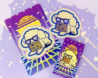 F-you Pay Me - Enamel pins,  stickers, prints