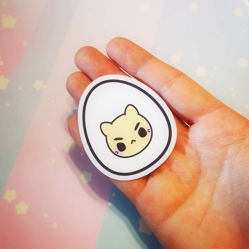 Egg Kitties : Die Cut Stickers image 0