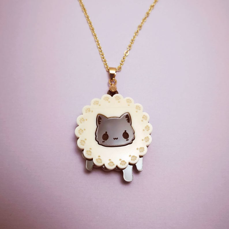 Cookie Biscuit Kitty  Necklace image 0