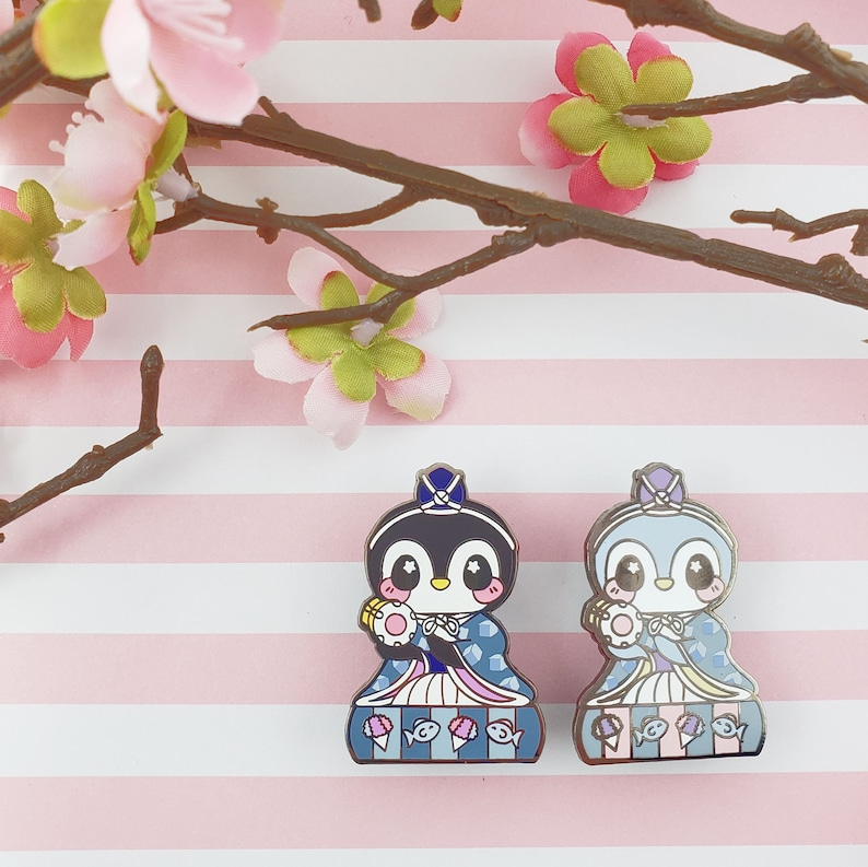 Drummer Penguin: Girl's Day Animal Enamel Pins image 0