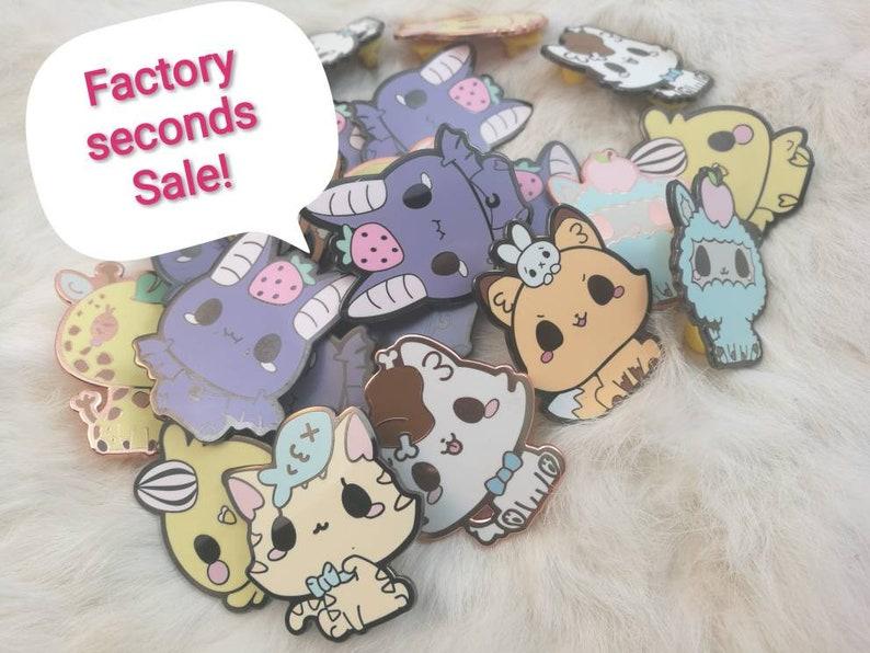 Rejected pins: Favorite snacks seconds sale enamel pins kawaii image 0