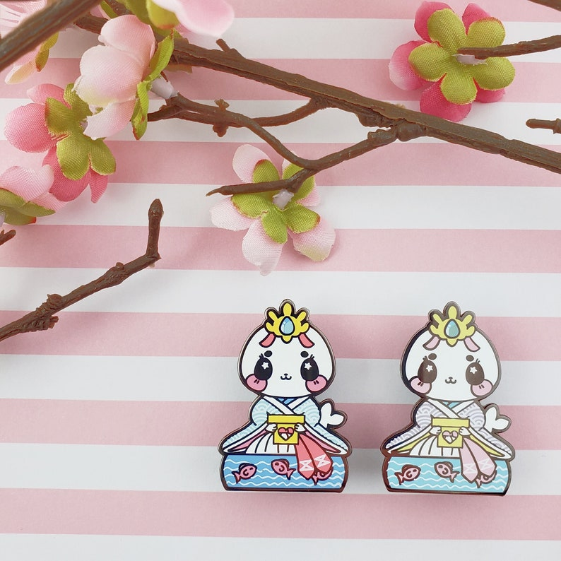 Lady Harp Seal: Girl's Day Animal Enamel Pins image 0