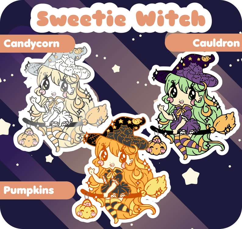 Sweetie Witch Hard Enamel Pin  Preorders image 0