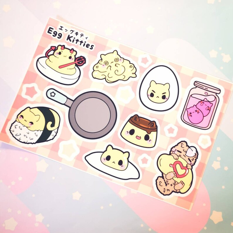Egg Kitties : Sticker Sheets image 0