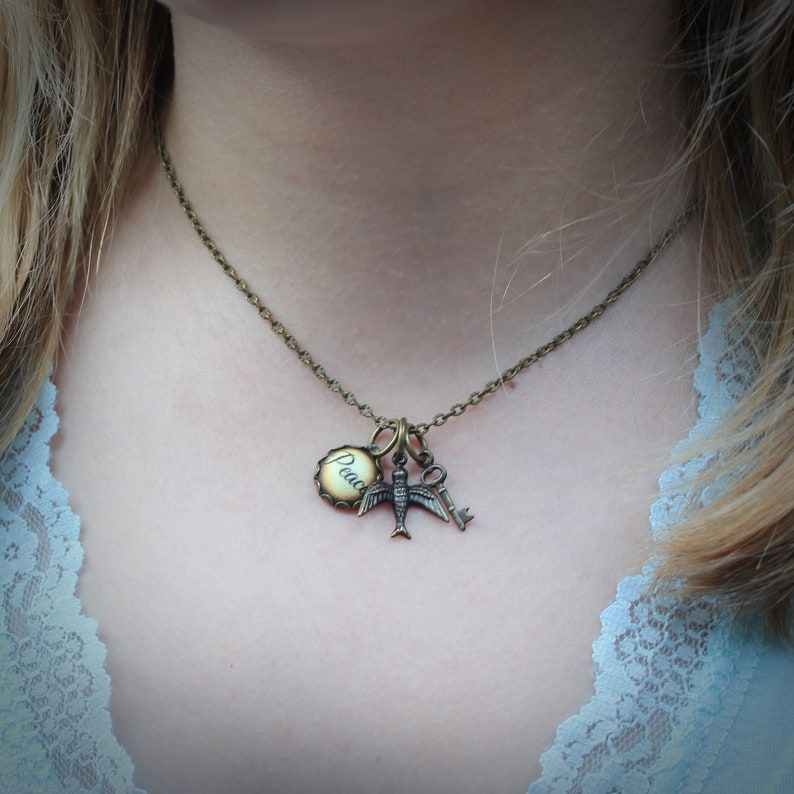 Peace and Paradise Charm Necklace