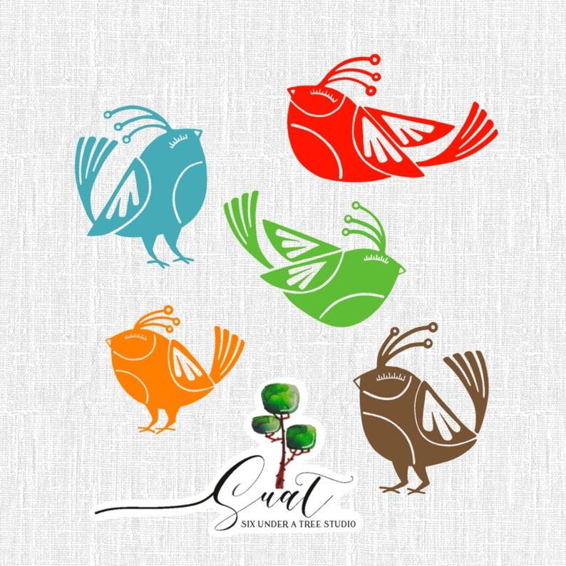 Little Birds Vol 6 Wall Vinyl Decals Art Graphics Stickers image 0