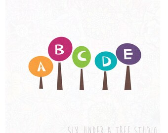 ABC Trees Wall Vinyl Decals Art Graphics Stickers