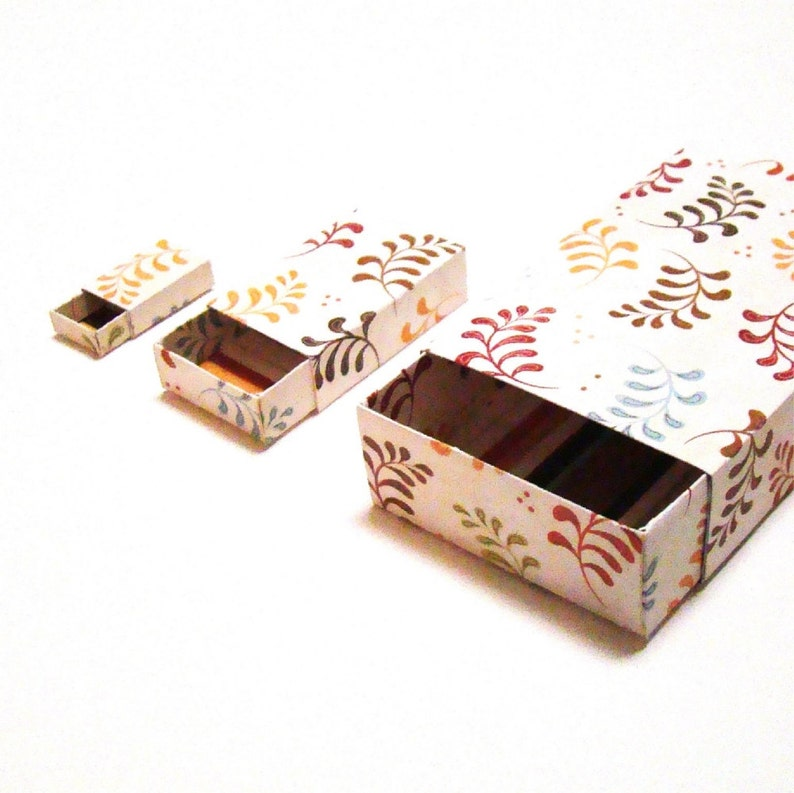 Matchbox Pattern  diy Matchbox  Printable Box Template  3 image 0