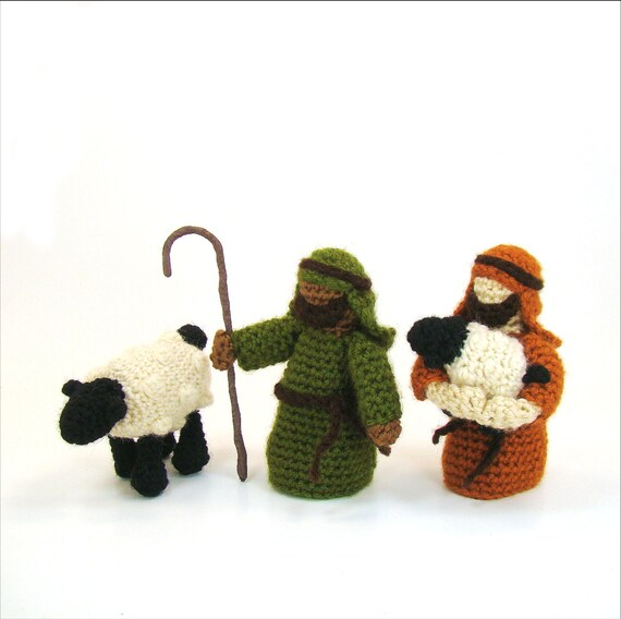 Shepherd and Sheep Crochet Pattern Christmas Toy Nativity PDF | Etsy