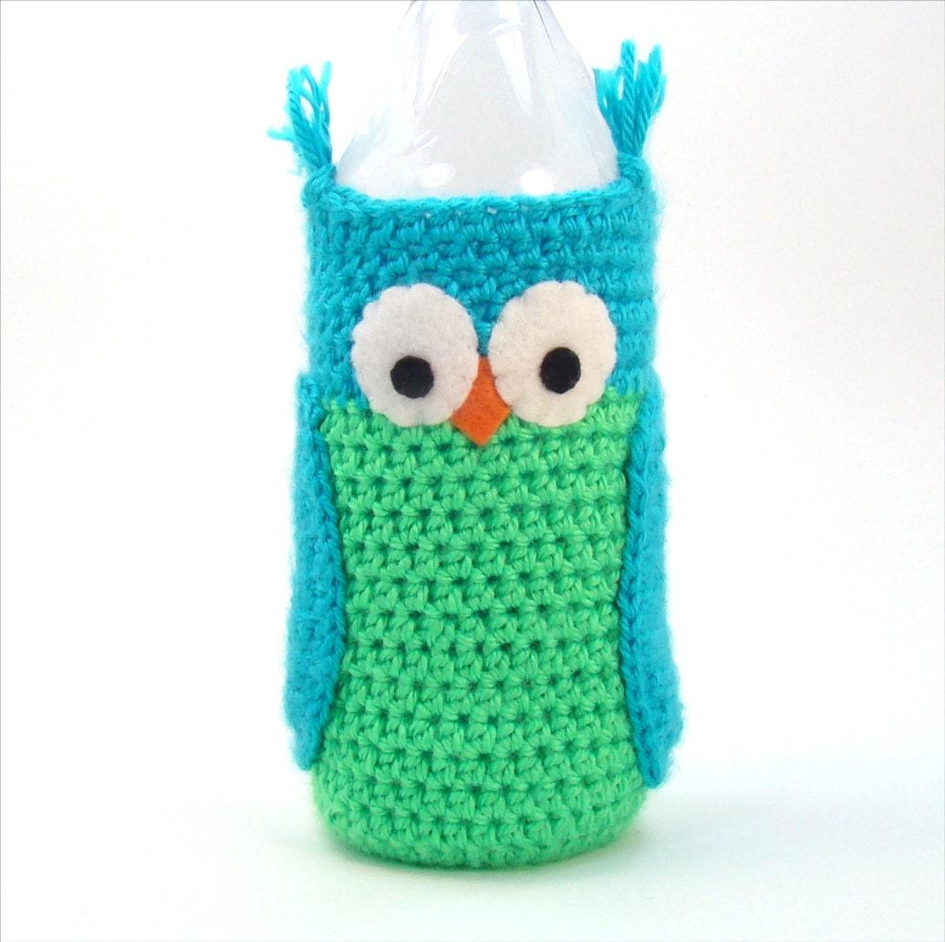 Water Bottle Sleeve - Owl Crochet Pattern - Crochet Water Cozy ...