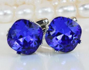 1bfb952fad80 Royal Blue Cufflinks Swarovski Crystal Cuff link Father Of The Bride  Groomsmen Bestman Gift