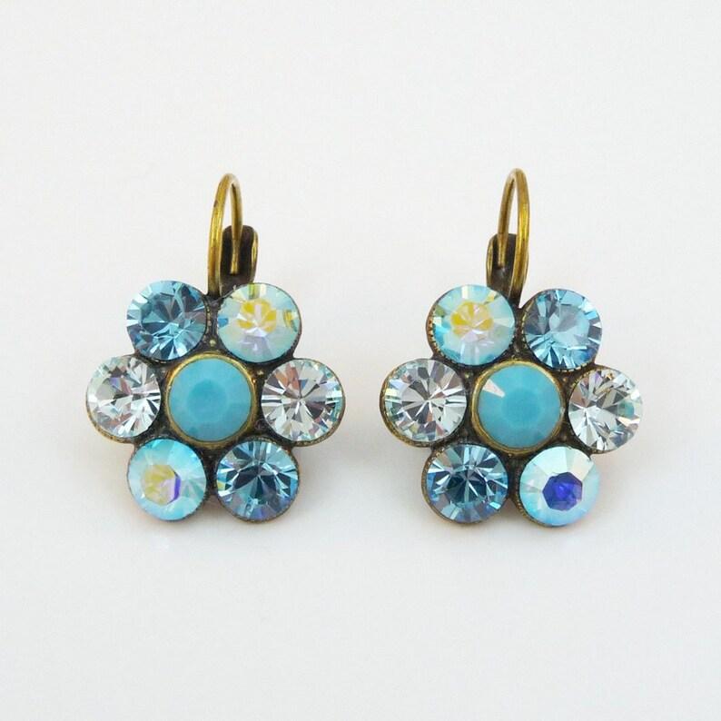 Blue Earrings Turquoise Blue Bridal Earrings TQ-31
