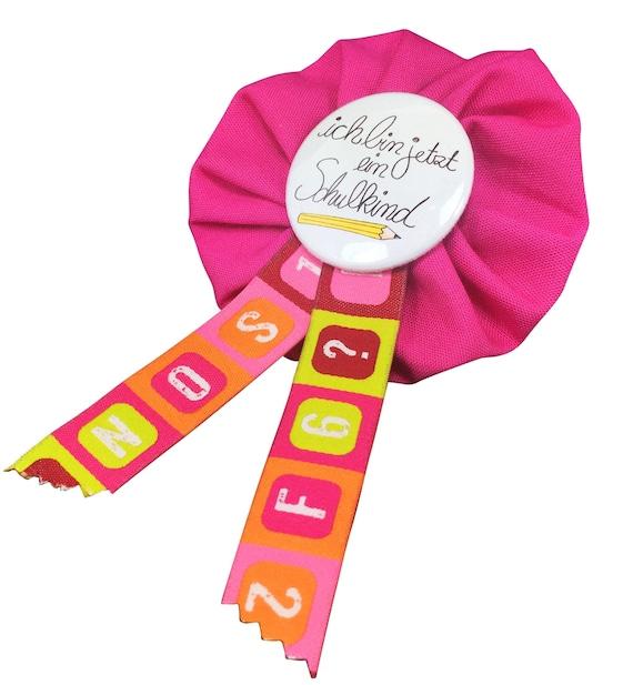 Schoolboy Schoolgirl School Starter medal rosa Button Pin Elementary Primary School Satchel