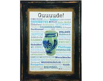 Bembel Print Poster A4 Gift Cider Hesse Frankfurt