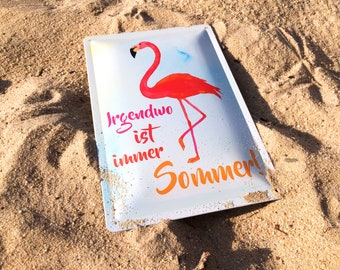 Flamingo summer tin shield metal sign 20x30 cm - made in Germany