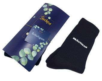 Socks groom printed wedding ceremony black