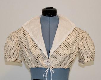 Regency Summer Spencer, 2 sizes, Yellow Floral Print, High Collar