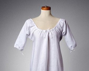 18th Century Chemise Xs-Xxl, Short Sleeve