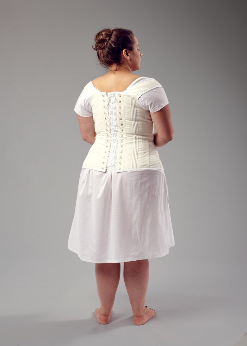 Custom Order Regency Corded Corset With Busk and Gussets