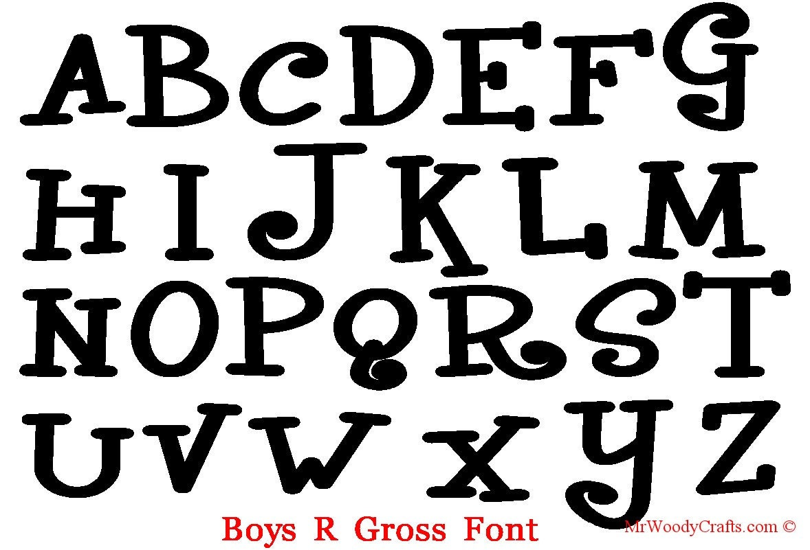 12 Unfinished Wooden Letters Fonts CurlzBoys R   Etsy