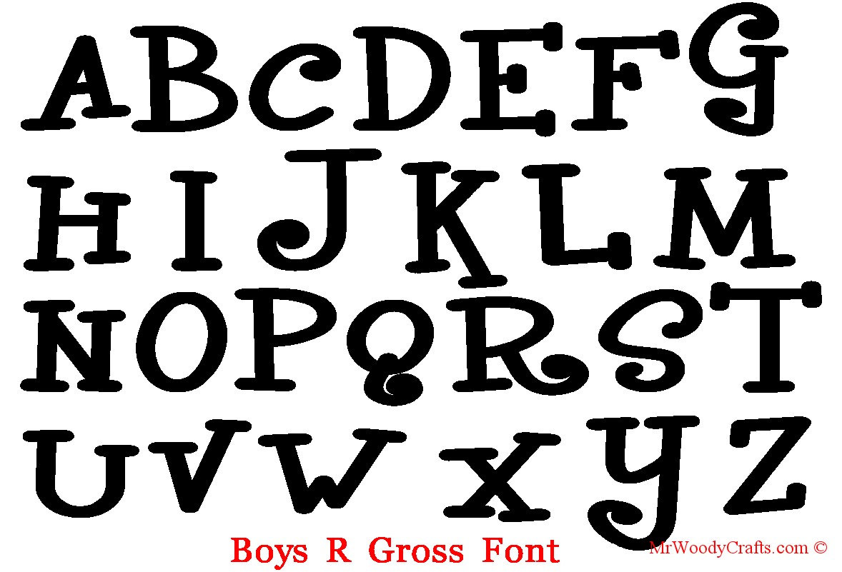 12 Unfinished Wooden Letters Fonts CurlzBoys R | Etsy