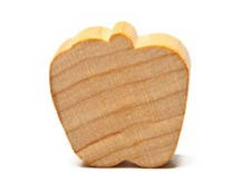 """61 Apples-Unfinished flat apple-7/8"""" tall x 3/4"""" wide"""