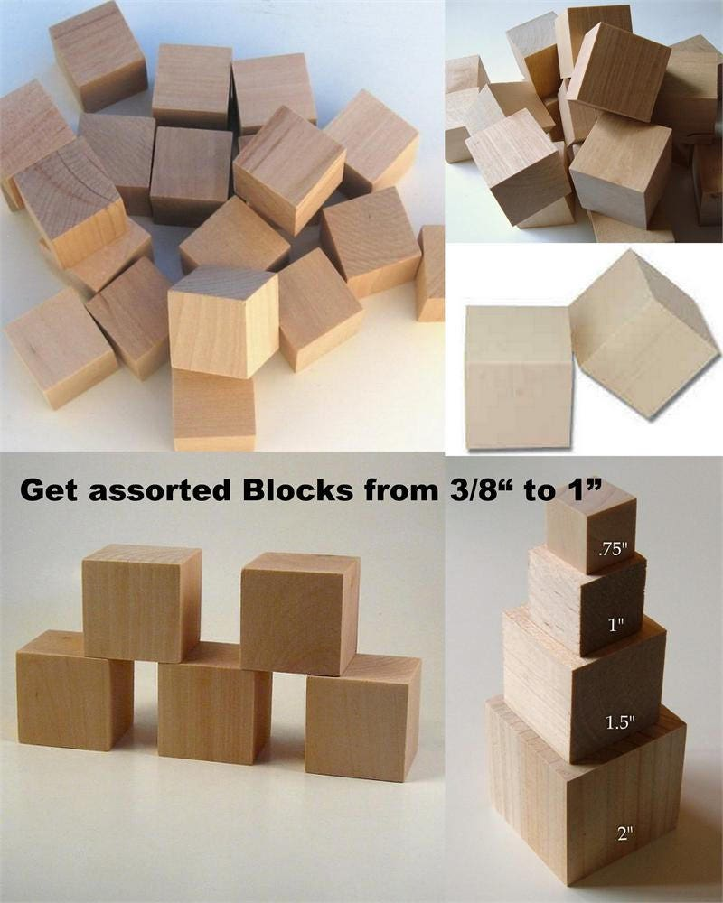 37 1 Inch Birch Wooden Blocks Parrot Toys