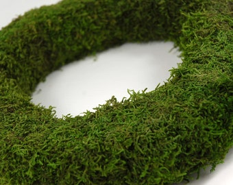 "Moss wreath-18"" Moss covered Straw wreath-Preserved Moss-Easy care"
