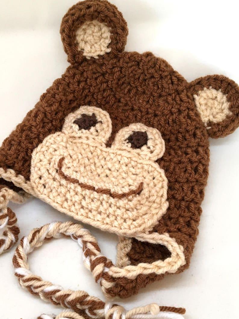 Crochet Monkey Hat Etsy