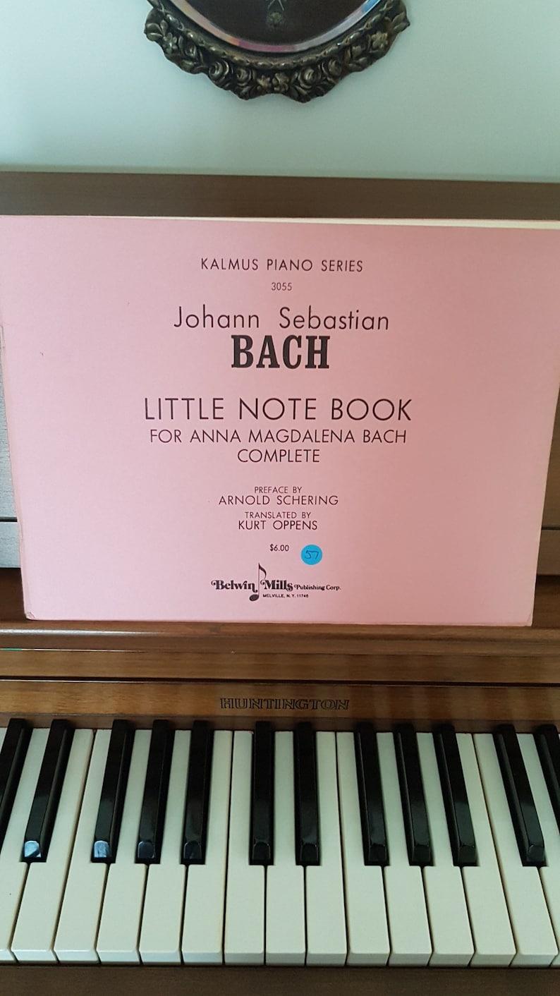 Vintage Kalmus Piano Series 3055 Johann Sebastian Bach Little Note Book   Piano Music, Piano Lessons  Sheet Music