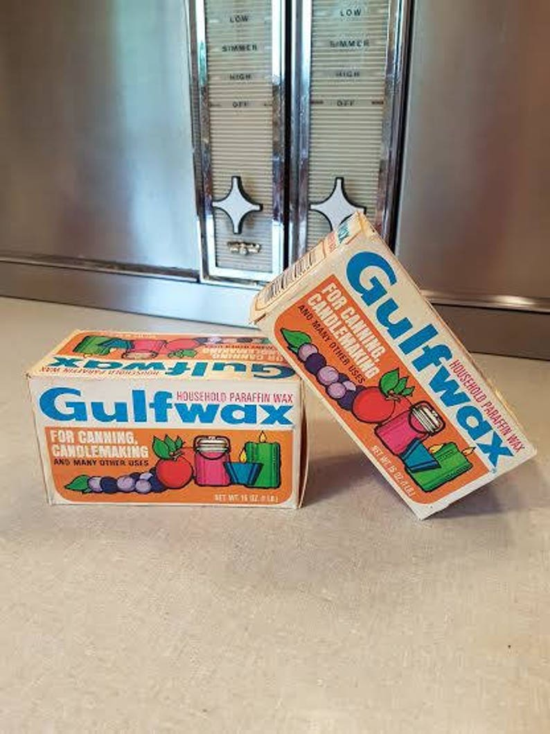 Vintage Gulfwax Paraffin Wax, Home Canning, Candle Making  Two boxes