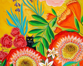 """Giclee Canvas Print : Fiesta of Blooms 9 x 14"""""""