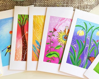 Greeting Card Set : Protect Nature - 5x7 (12 cards- two of 6 designs)